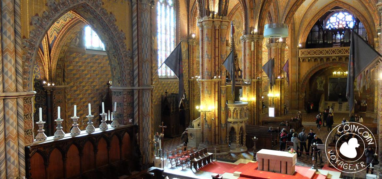 Intérieur de l'église matthias, appelée aussi Notre-Dame-de-l'Assomption de Budavár
