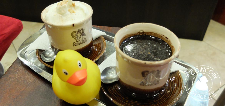 Chocolat chaud au café Azték Choxolat