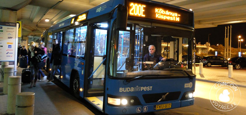 bus transfert aéroport budapest