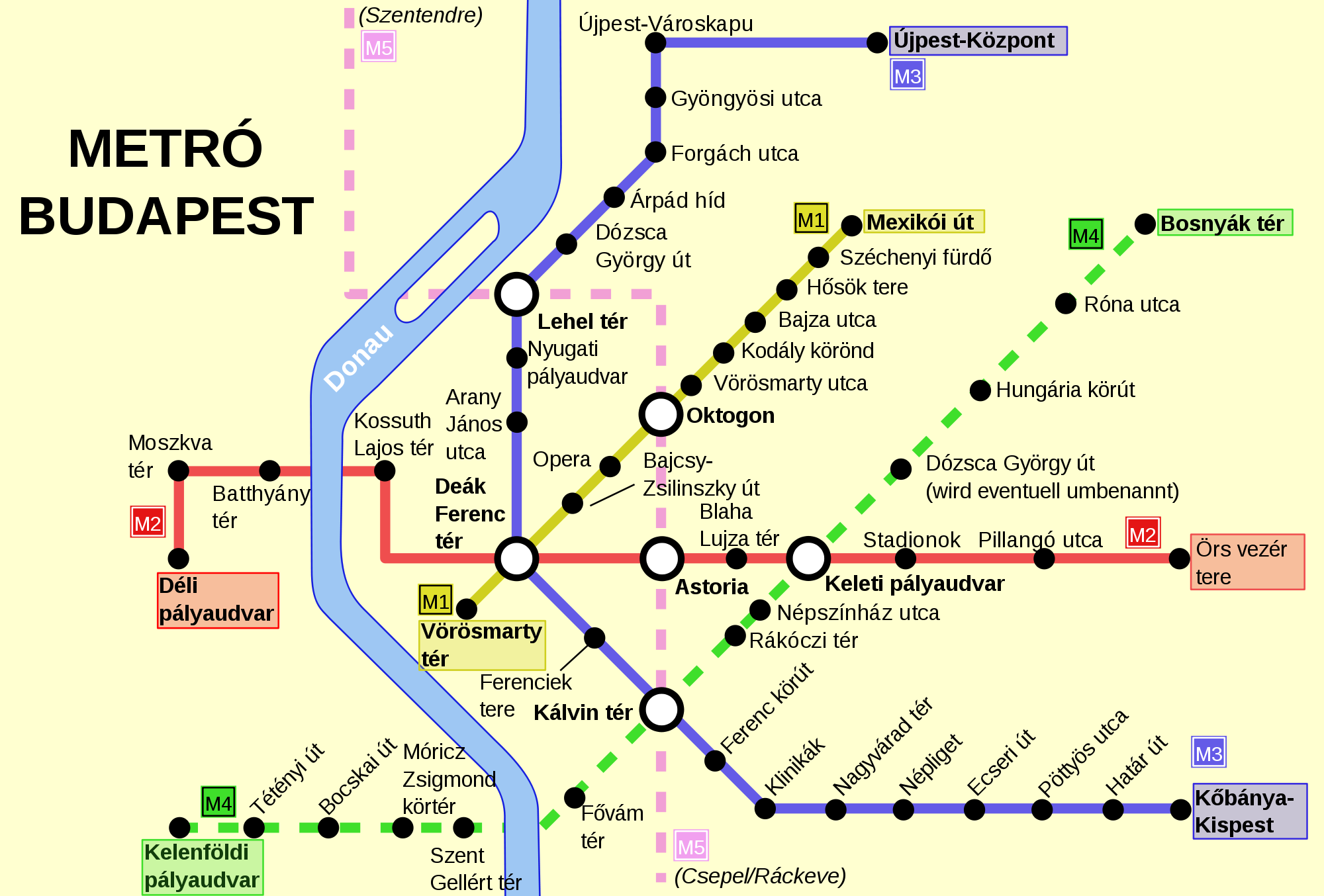 carte metro budapest