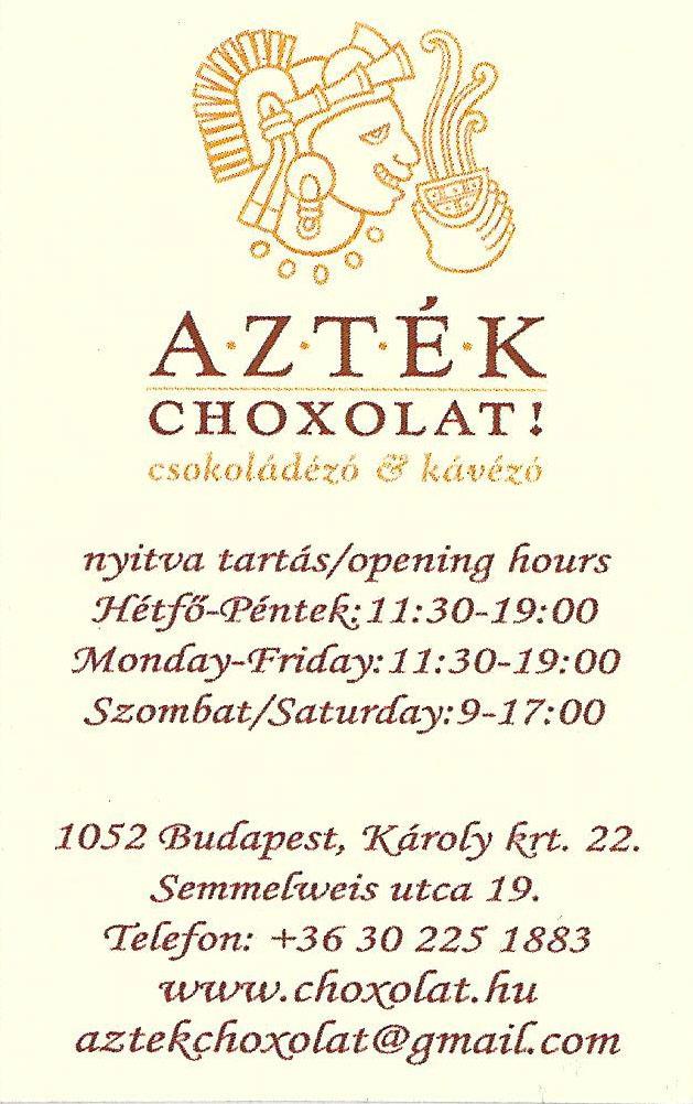 Café Azték Choxolat Budaapest
