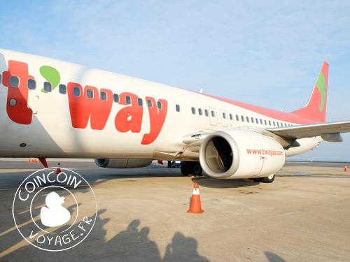 compagnie aérienne low cost T'WAY AIR corée du sud