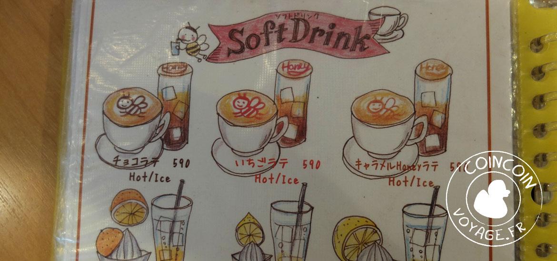 menu maid café honey