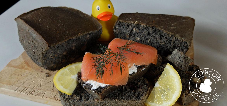 pain noir halloween saumon recette