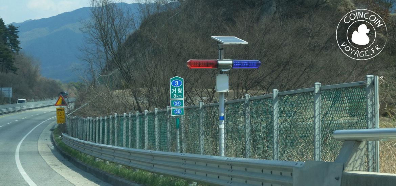 route radar corée sud voiture