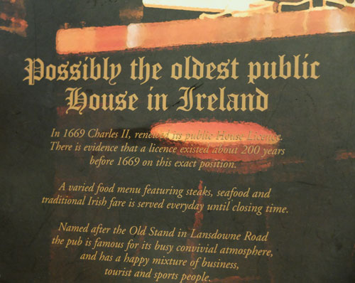 the old stand pub dublin irlande