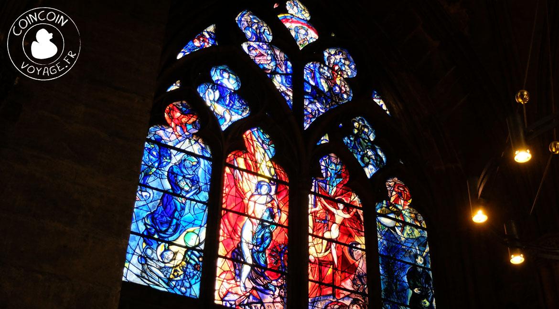 vitraux marc chagal metz cathédrale